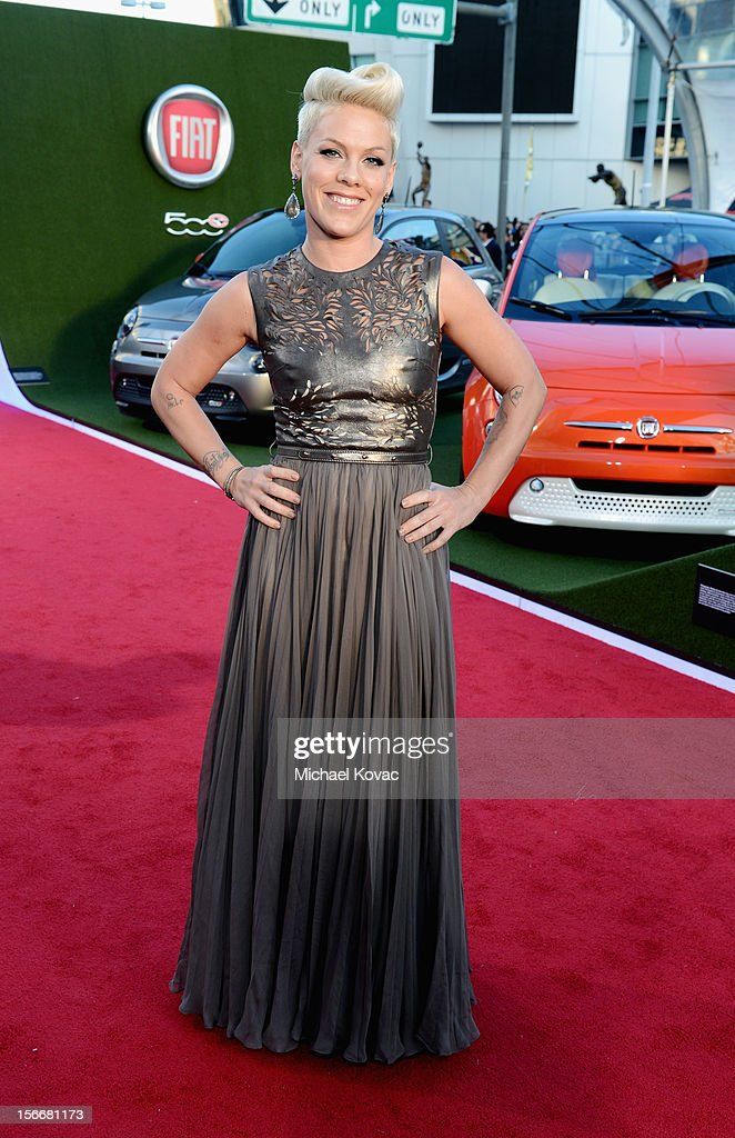 Pink attends Fiat's Into The Green during the 40th American Music Awards held at Nokia Theatre L.A. Live on November 18, 2012 in Los Angeles, California.