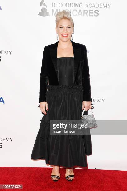 Pink attends MusiCares Person of the Year honoring Dolly Parton at Los Angeles Convention Center on February 8 2019 in Los Angeles California