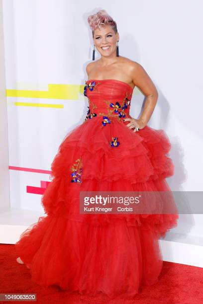 Pink attends the 2017 American Music Awards at Microsoft Theater on November 19 2017 in Los Angeles California United States
