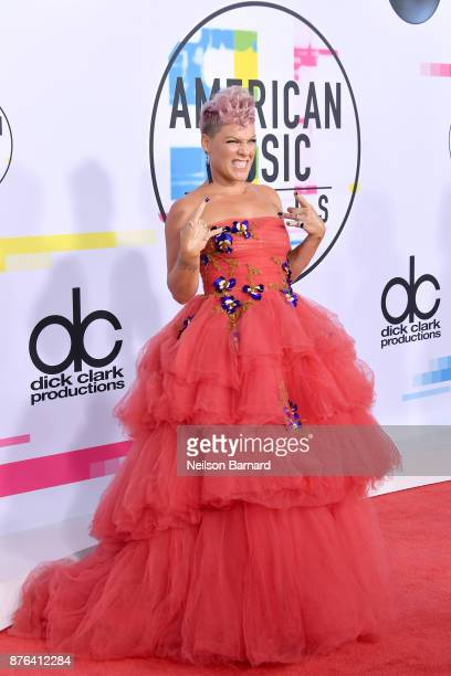 Pink attends the 2017 American Music Awards at Microsoft Theater on November 19 2017 in Los Angeles California