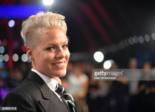 Pink attends the 2017 MTV Video Music Awards at The Forum on August 27, 2017 in Inglewood, California.