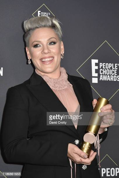 Pink attends The 2019 E People's Choice Awards Press Room at The Barker Hanger on November 10 2019 in Santa Monica California