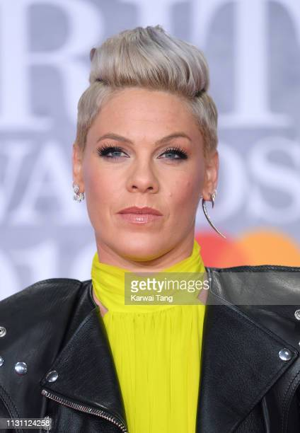 Pink attends The BRIT Awards 2019 held at The O2 Arena on February 20 2019 in London England
