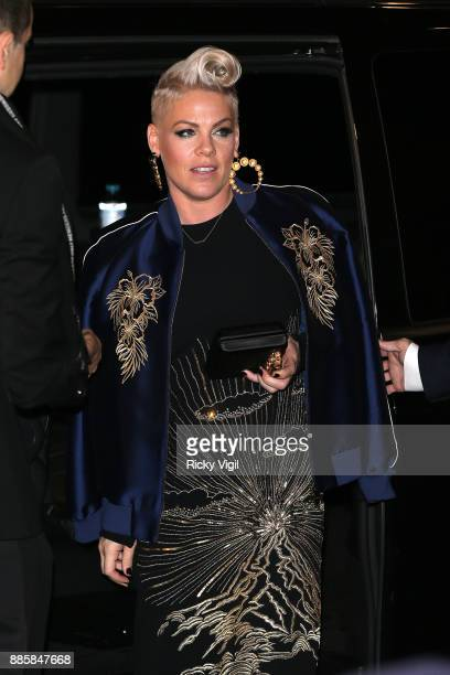 Pink attends The Fashion Awards 2017 at Royal Albert Hall on December 4 2017 in London England