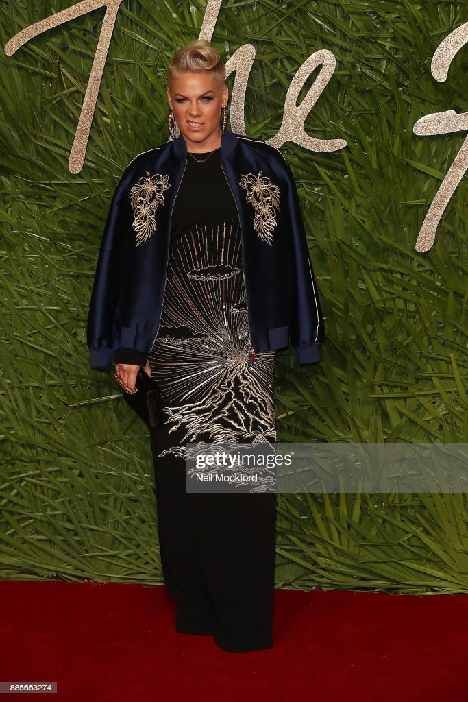 Pink attends The Fashion Awards 2017 in partnership with Swarovski at Royal Albert Hall on December 4, 2017 in London, England.