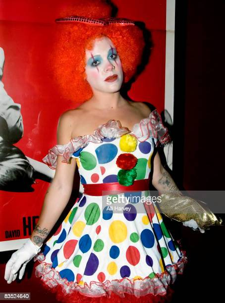 Pink attends the Lucky Strike Lanes Halloween night Masquerade at Lucky Strike Lanes on October 31 2008 in New York City