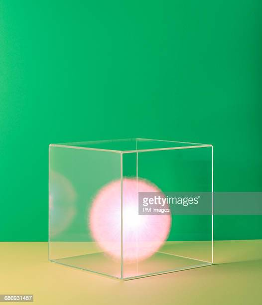 Pink ball of energy in box