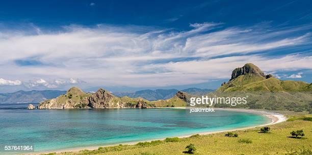 Pink beach in Pulau Padar island in Komodo Flores