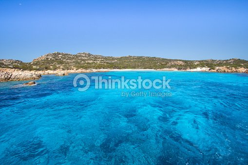 Pink Beach Sardinia Italy Stock Photo