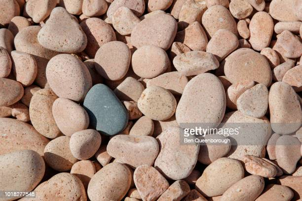 pink beach stones - screen saver stock photos and pictures