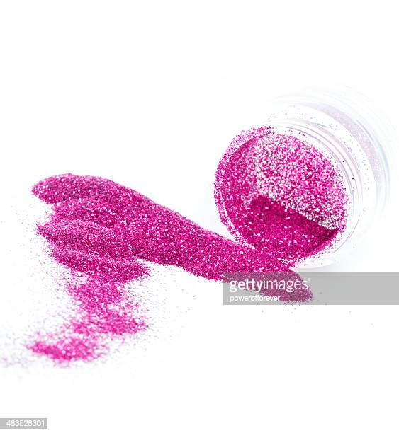 ピンクのボディグリッター