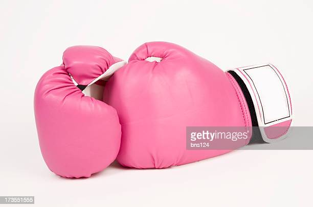 pink boxing gloves - boxing gloves stock photos and pictures
