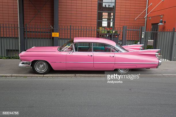 "pink cadillac sedan de ville 1959 ""sweep-roof"" - 1950 1959 stock pictures, royalty-free photos & images"