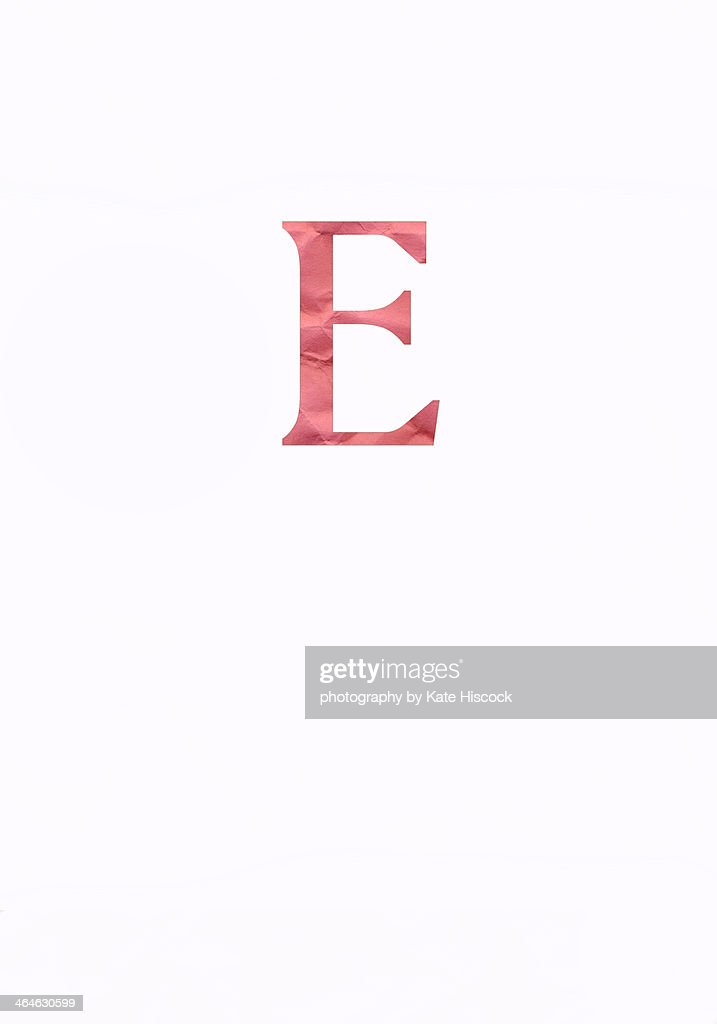 Pink Capital Letter E