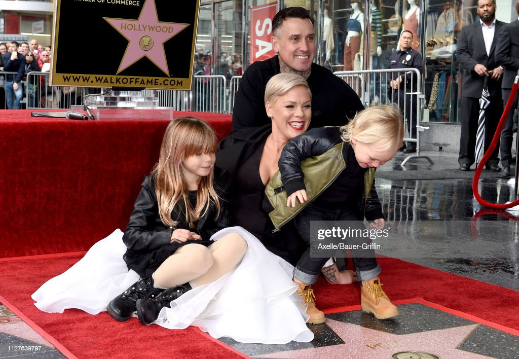 Pink Honored With Star On The Hollywood Walk Of Fame : News Photo