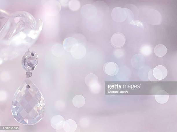 Pink chandelier sparkles