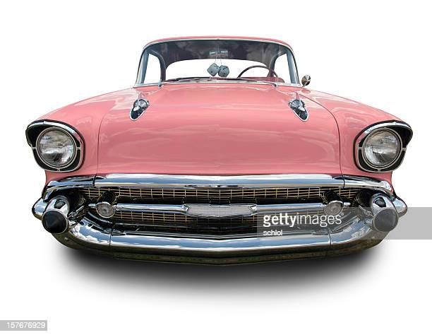 pink chevrolet bel air 1957 - low rider stock pictures, royalty-free photos & images