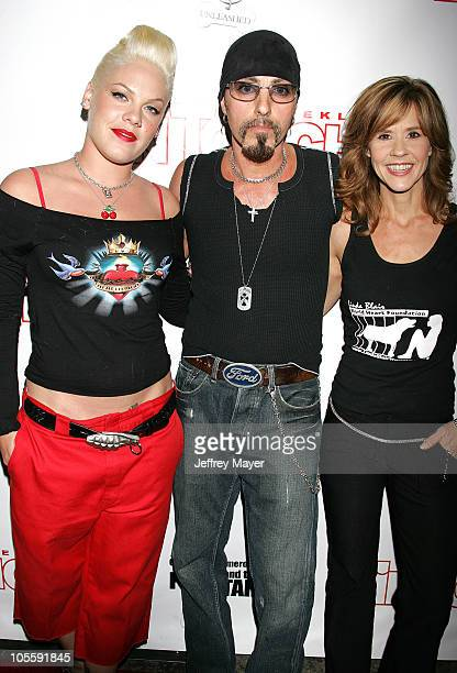 Pink Christopher Ameruoso and Linda Blair during In Touch Weekly Presents Pets and Their Stars Unleashed at Cabana Club in Los Angeles California...