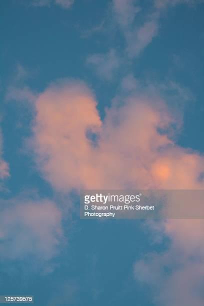 Pink clouds sky