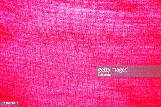 pink colored knit fabric - knitting stock pictures, royalty-free photos & images