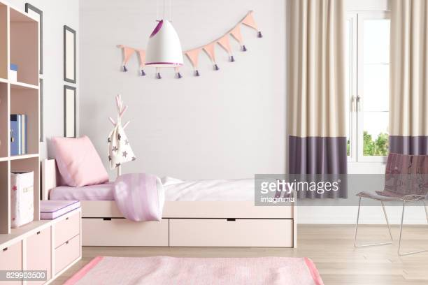 Pink Colored Teen Bedroom