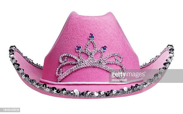 Pink Cowboy Hat on White