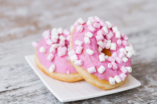 Pink delicious donuts - gettyimageskorea