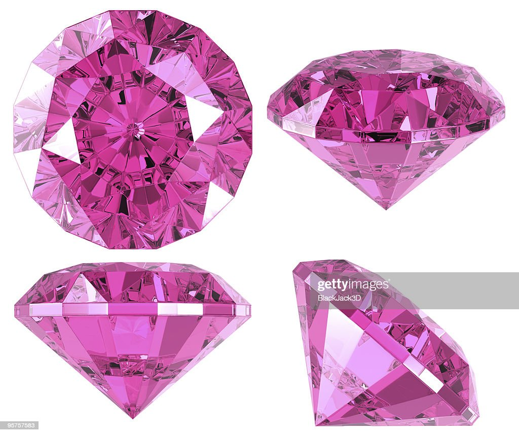 Pink diamond (4 positions) : Stock Photo