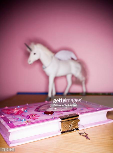 A pink diary.