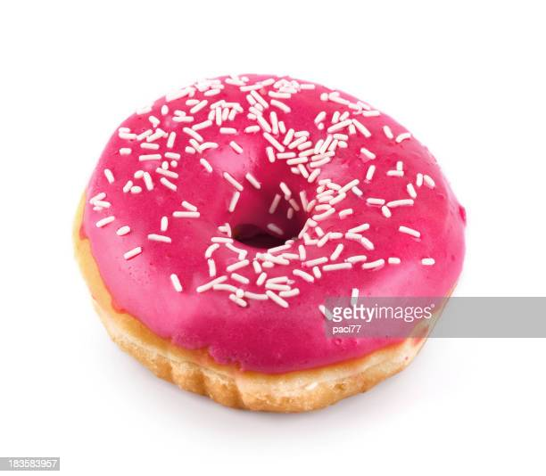 Rosa Donut isoliert mit Clipping Path