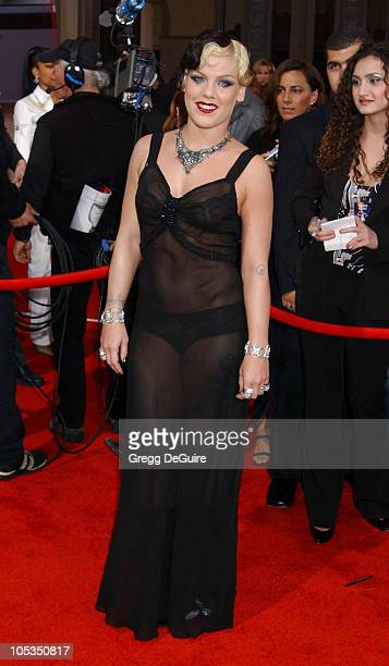 Pink during 31st Annual American Music Awards Arrivals at Shrine Auditorium in Los Angeles California United States