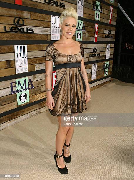 Pink during E and EMA's 2007 Golden Globe After Party Red Carpet and Inside at Beverly Hilton in Beverly Hills California United States