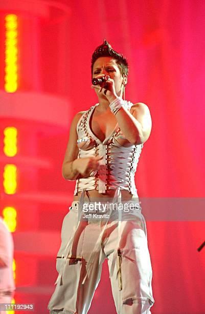 Pink during MTV European Music Awards 2002 MTV European Music Awards 2002 at Palau Sant Jordi in Barcelona, Spain.