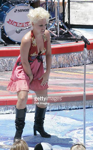 Pink during MTV's Spankin' New Sounds of the Summer Week May 30 2006 at Wave House in San Diego California United States