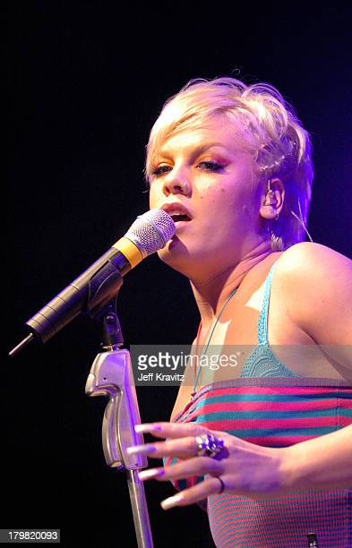 Pink during Pink Live at the 5th Anniversary Party Benefiting Toys for Tots Hosted by Motorola at 3526 Hayden in Culver City California United States