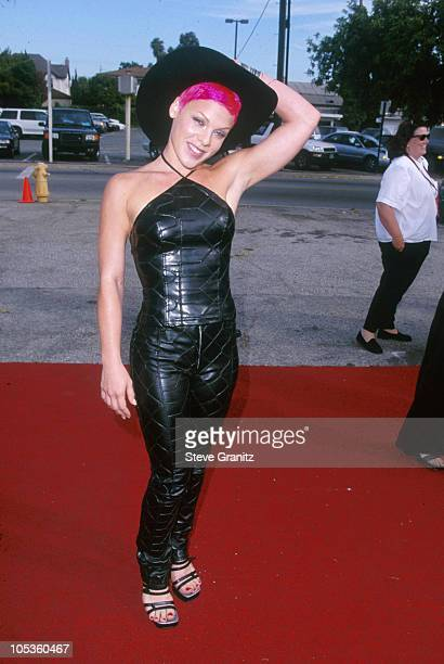 Pink during The 1st Annual Teen Choice Awards at Barker Hangar in Santa Monica California United States