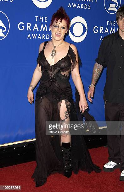Pink during The 45th Annual GRAMMY Awards Arrivals at Madison Square Garden in New York City New York United States