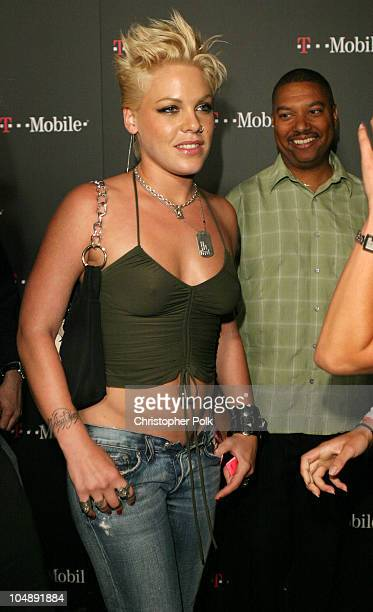 """Pink during T-Mobile Action Sports Team Hosts """"Action-Packed"""" - Arrivals at ArcLight Cinema Rooftop in Hollywood, California, United States."""