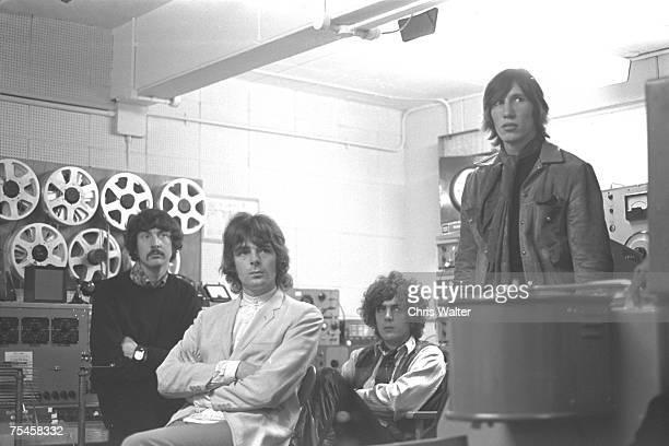 Pink Floyd 1967 Nick Mason Richard Wright Syd Barrett and Roger Waters at the BBC Studios