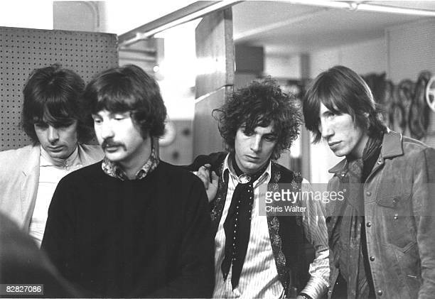 Pink Floyd 1967 Richard Wright Nick Mason Syd Barrett and Roger Waters at the BBC Studios