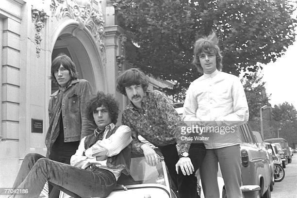 Pink Floyd 1967 Roger Waters Syd Barrett Nick Mason and Richard Wright at the BBC Studios