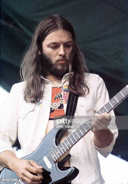 Pink Floyd 1974 David Gilmour appearing with Roy Harper in Hyde Park