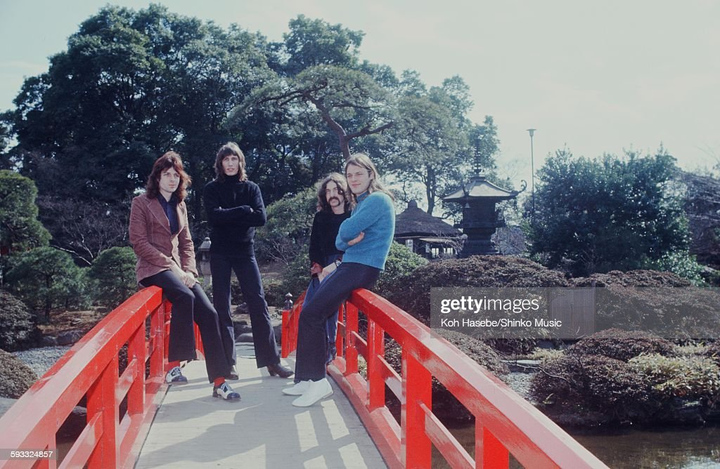 Pink Floyd At A Photo Session In The Japanese Garden : News Photo