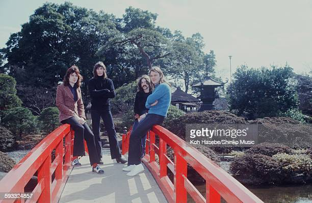 Pink Floyd at a photo session in the Japanese garden Tokyo March 1972