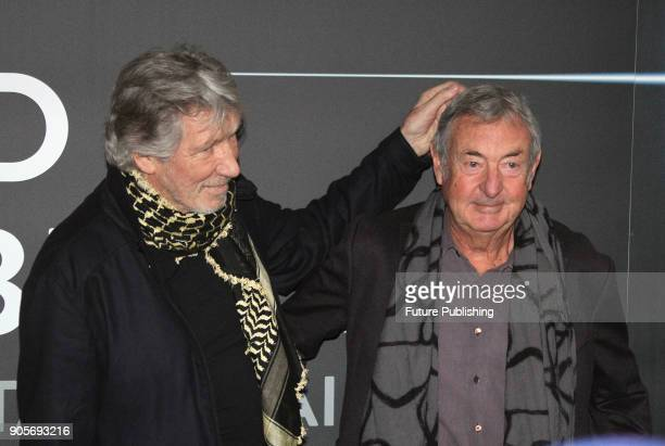 869ba922 Pink Floyd band members Roger Waters and Nick Mason pose for photographers  before a press conference