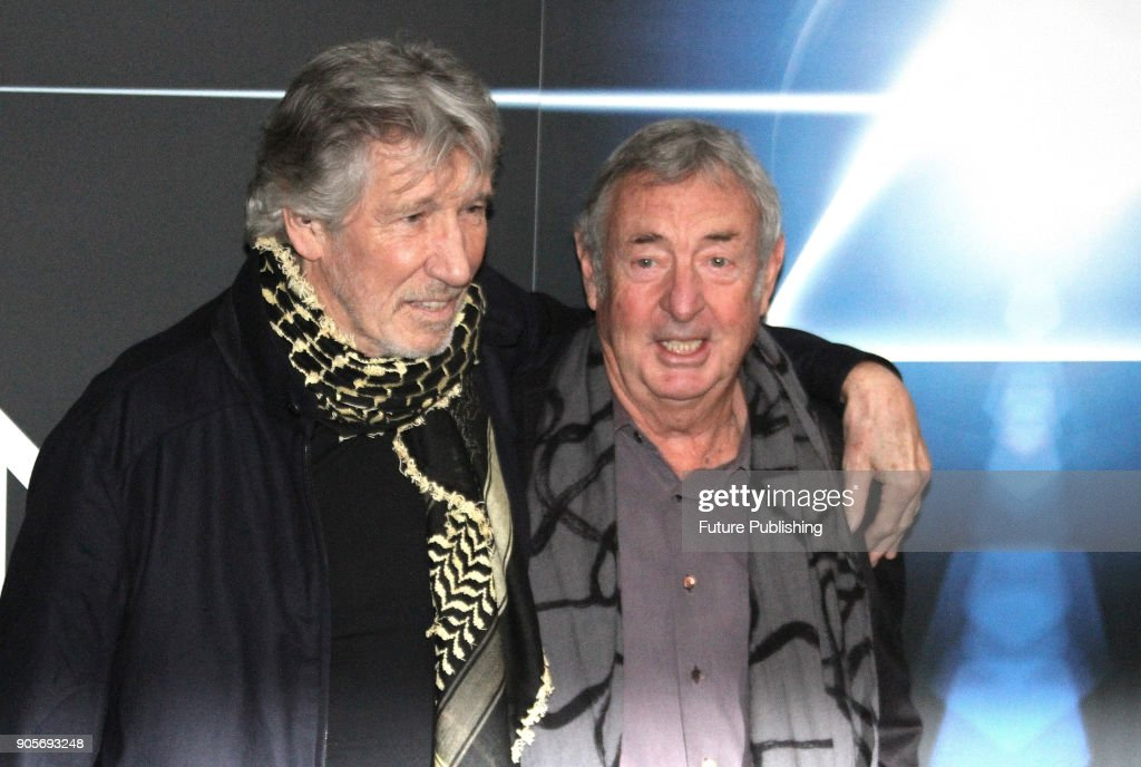 5b7a0a25 The Pink Floyd Exhibition: Their Mortal Remains In Rome. ROME, ITALY -  JANUARY 16: Pink Floyd band members Roger Waters (L) and Nick Mason pose ...