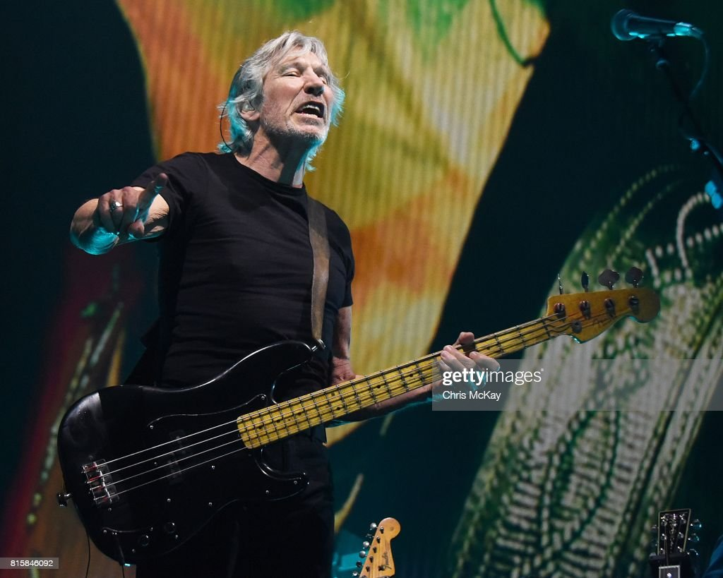 Pink Floyd founding member Roger Waters performs during his Us + Them Tour at Infinite Energy Center on July 16, 2017 in Duluth, Georgia.