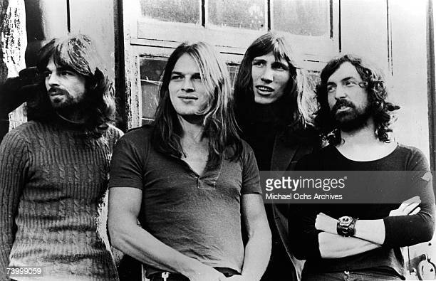 Pink Floyd LR Rick Wright Dave Gilmour Roger Waters and Nick Mason pose for a publicity shot circa 1973