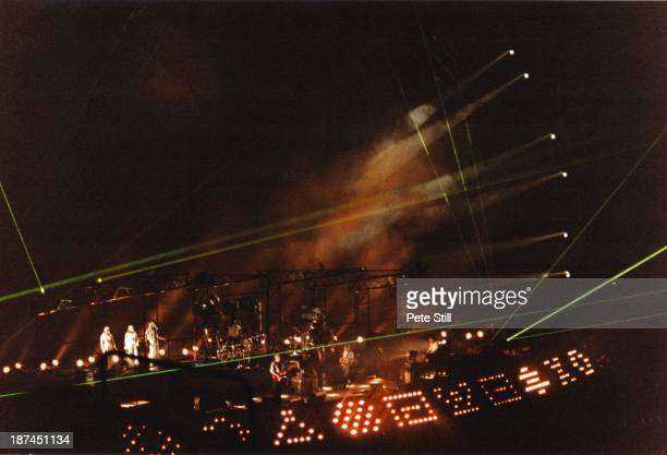 Pink Floyd perform on stage at Earls Court Arena as part of their tour 'The Division Bell' on October 27th 1994 in London England