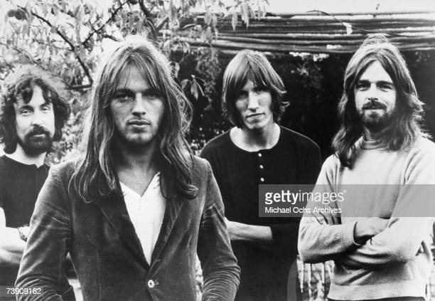 Pink Floyd pose for a publicity shot circa 1973